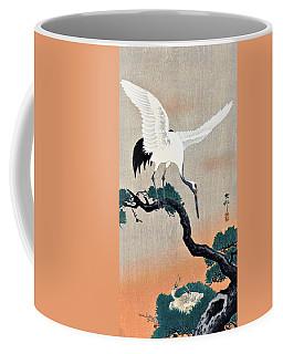 Top Quality Art - Pine Tree And Crane Coffee Mug