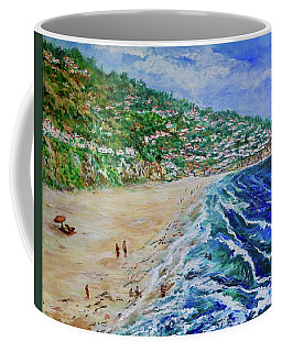 Coffee Mug featuring the painting Torrance Beach, Palos Verdes Peninsula by Tom Roderick