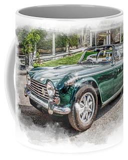 Triumph Tr5 At Roman Gardens Coffee Mug