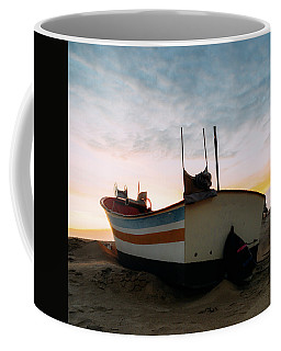 Traditional Wooden Fishing Boat Coffee Mug