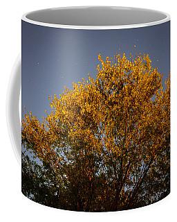 Tree And Stars Wide Coffee Mug