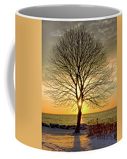 Coffee Mug featuring the photograph Tree Framed Sunrise New Hampshire by Nathan Bush