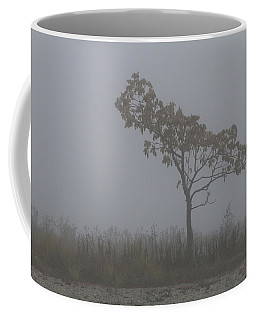 Coffee Mug featuring the photograph Tree In Fog by William Selander