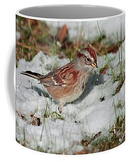 Tree Sparrow In Snow Coffee Mug