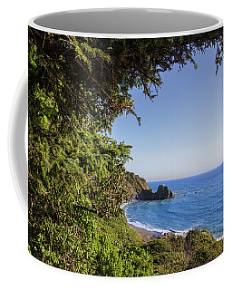 Trees And Ocean Coffee Mug