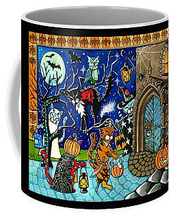 Trick Or Treat Halloween Cats Coffee Mug