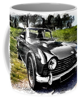 Triumph Tr5 Monochrome With Brushstrokes Coffee Mug