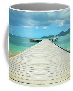 Tropical Caribbean Dock - St. Maarten Coffee Mug