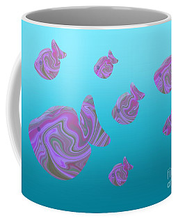 Tropical Fish In Pink Psychedelic Pattern Coffee Mug