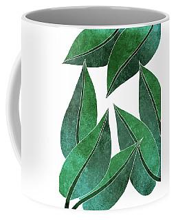Tropical Leaf Illustration - Green - Botanical Art - Floral Design - Modern, Minimal Decor Coffee Mug
