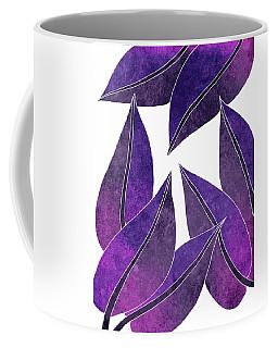 Tropical Leaf Illustration - Violet, Purple - Botanical Art - Floral Design - Modern, Minimal Decor Coffee Mug