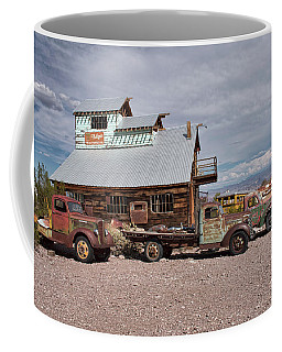 Trucks Lined Up In Nelson Coffee Mug