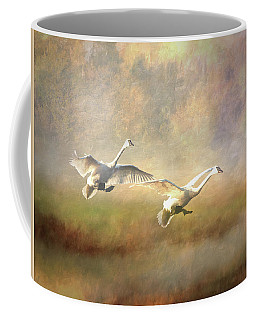 Trumpeter Swan Landing - Painterly Coffee Mug