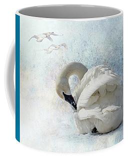 Trumpeter Textures #2 - Swan Preening Coffee Mug