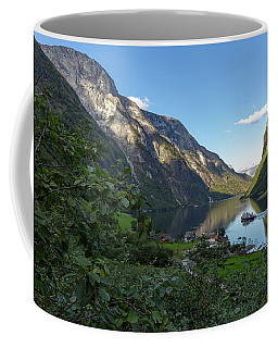 Coffee Mug featuring the photograph Tufte, Naerofjord, Norway by Andreas Levi