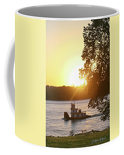 Tugboat On Mississippi River Coffee Mug