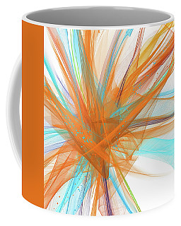 Turquoise And Orange Art Coffee Mug