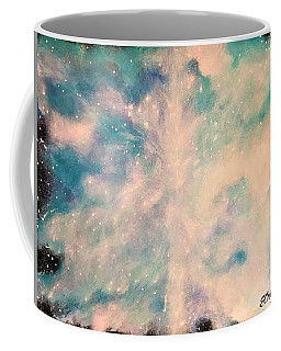 Turquoise Cosmic Cloud Coffee Mug