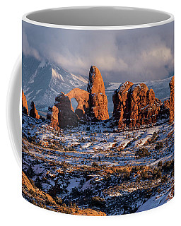 Turret Arch Winter Sunset Coffee Mug