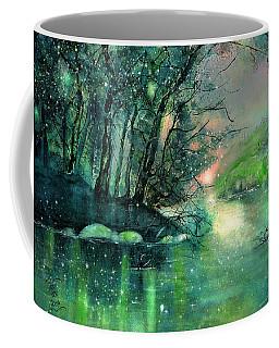 Twilight At The River Rhine Coffee Mug