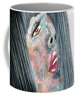 Twilight - Woman Abstract Art Coffee Mug