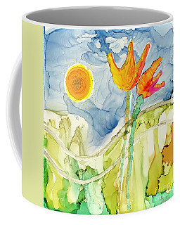 Twin Tulips Coffee Mug