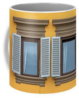 Two Blue Window Shutters Of Florence Coffee Mug