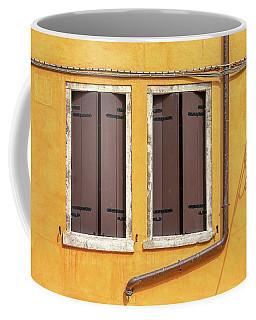 Two Brown Windows Of Venice Coffee Mug
