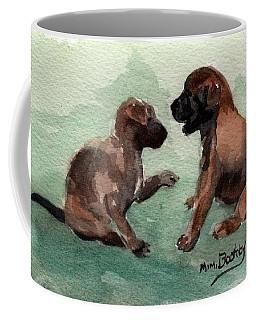 Two Malinois Puppies Coffee Mug