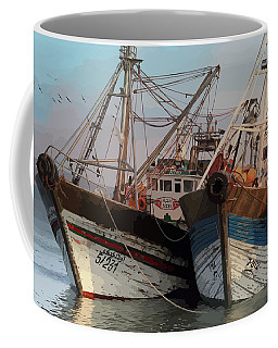 Two Old Fishing Boats At Rest Coffee Mug