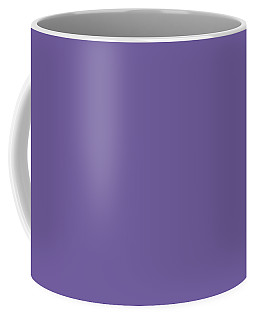 Coffee Mug featuring the mixed media Ultra  Violet - Pantone Color Of The Year 2018 by Carol Cavalaris