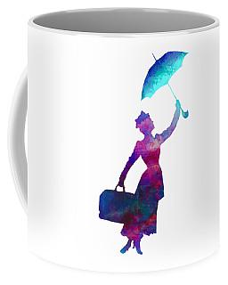 Coffee Mug featuring the digital art Umbrella Lady by David Millenheft