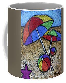 Umbrellas On The Beach Coffee Mug
