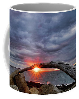 Coffee Mug featuring the photograph Under The Arch, Sunset by Michael Hubley