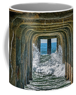Coffee Mug featuring the photograph Under The Pier Manhattan by Michael Hope
