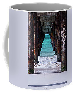 Coffee Mug featuring the photograph Under The Pier by Stuart Manning