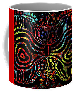 Coffee Mug featuring the drawing Under The Sea Digital Patterns Of Life by Joan Stratton