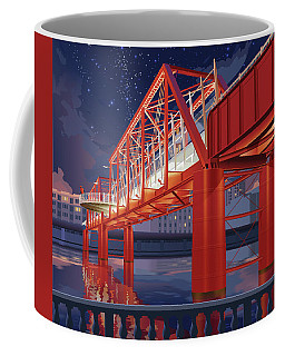 Union Railroad Bridge - Riverwalk Coffee Mug