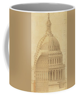 United States Capitol, Section Of Dome, 1855 Coffee Mug