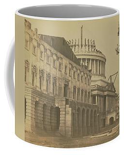 United States Capitol Under Construction Coffee Mug