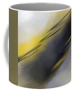 Unplanned - Yellow And Abstract Art Coffee Mug