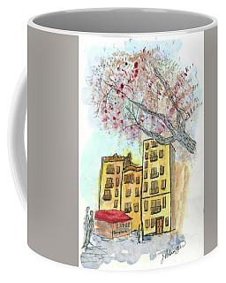 Urban Sketch In Barcelona Coffee Mug