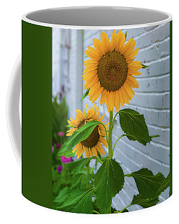 Coffee Mug featuring the photograph Urban Sunflower by Lora J Wilson
