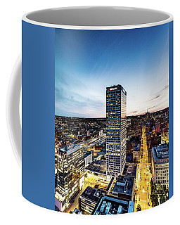 Coffee Mug featuring the photograph Us Bank Tower by Randy Scherkenbach