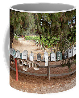 Coffee Mug featuring the photograph Us Mail Boxes by Michael Hope