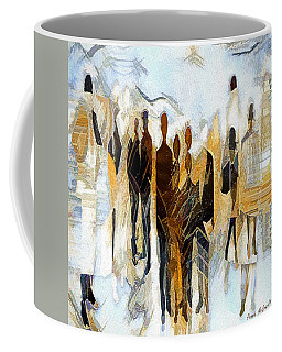 Coffee Mug featuring the digital art Us - Neutral Colours by Pennie McCracken