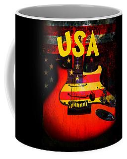 Usa Flag Guitar Purple Stars And Bars Coffee Mug