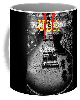 Usa Flag Guitar Relic Coffee Mug