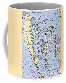 Useppa,cabbage Key,cayo Costa Nautical Chart Coffee Mug