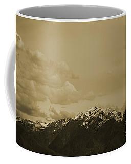 Utah Mountain In Sepia Coffee Mug